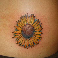 Mind Blowing Sunflower Tattoo For Waist