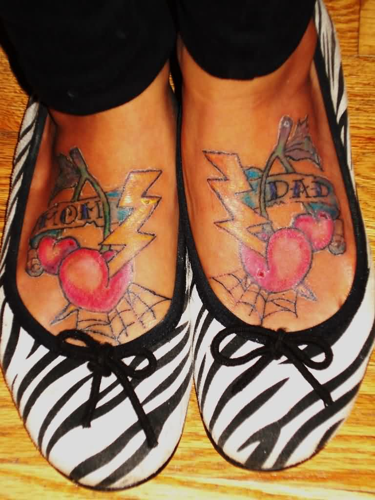 Mom And Dad Feet Tattoos