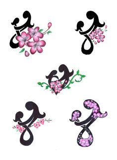Mother Child Knot And Flowers Tattoo Designs