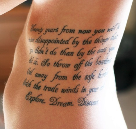 Mother Son Quotes Tattoos On Rib Side