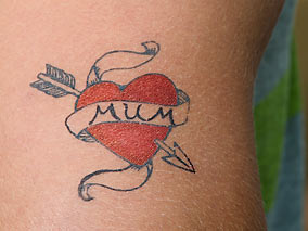 Mum Arrow Heart Tattoo