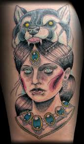 Neo Traditional Girl Tattoo