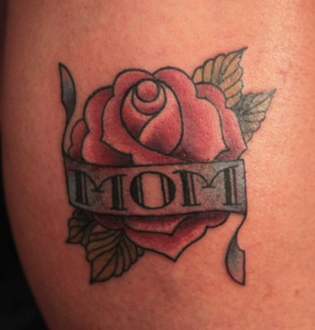 New Mom Rose Tattoo