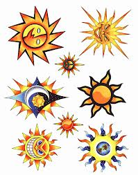 New Sun Tattoo Designs