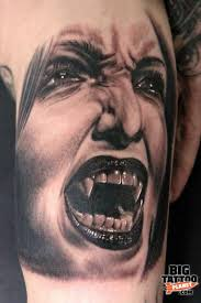 Nice Vampire Girl Portrait Tattoo