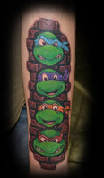 Ninja Turtles Tattoos On The Arm