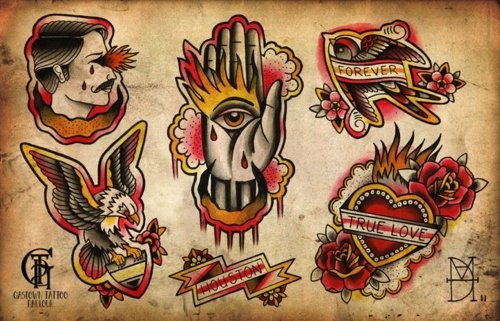 One More Traditional Tattoo Sheet