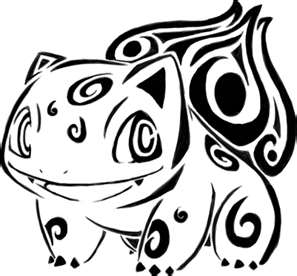 Pokemon Tribal Tattoo Sample