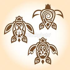 Polynesian Tribal Turtle Tattoo Designs