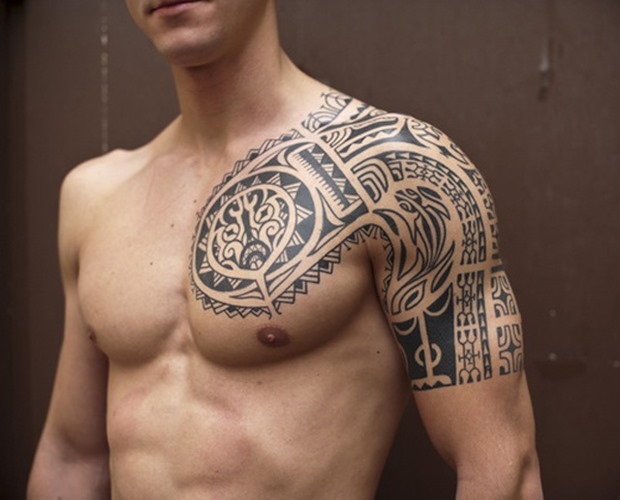 Quarter Sleeve Tribal Tattoos For Men