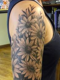 Right Full Sleeve Sunflowers Tattoos