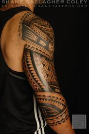 Right Sleeve Maori Polynesian Tribal Tattoos