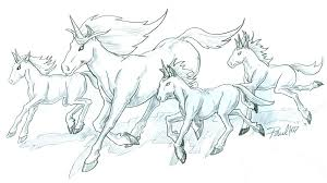 Running Unicorn Tattoo Designs