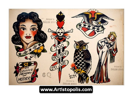 Sailor Jerry Traditional Tattoo Flash Set