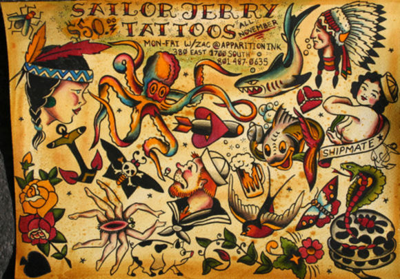 Sailor Jerry Traditional Tattoo Sheet