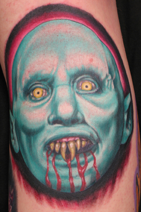 Scary Bleeding Vampire Tattoo