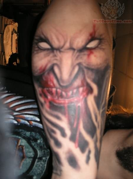 Scary Vampire Tattoo For Men