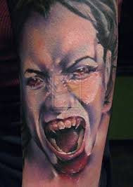 Screaming Vampire Tattoo