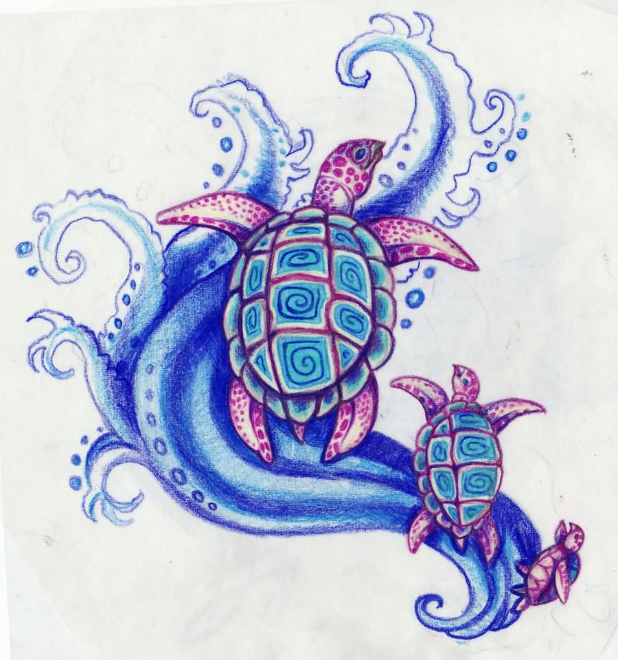 Sea Turtles Tattoo Designs