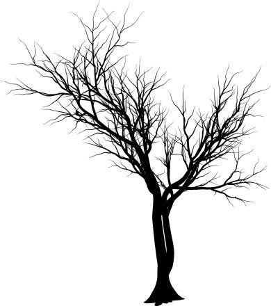 Simple Tree Tattoo Stencil
