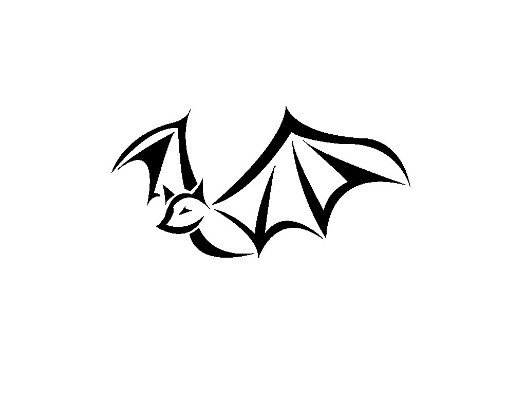 Simple Tribal Bat Tattoo Design
