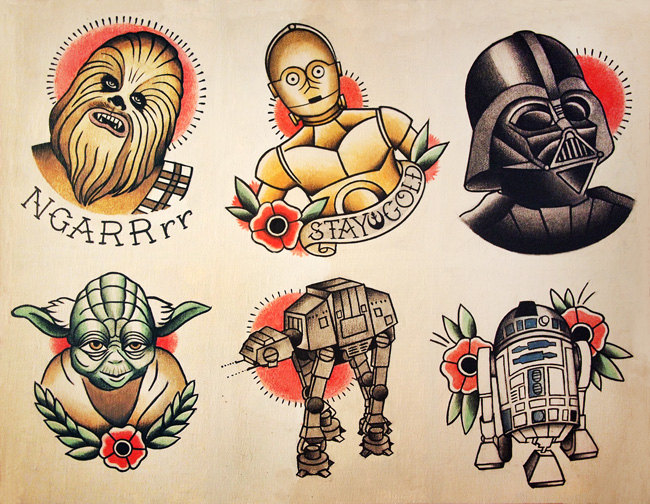 Stars Wars Traditional Tattoo Flash