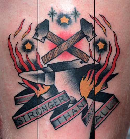 Stronger Than All Traditional Tattoo Image