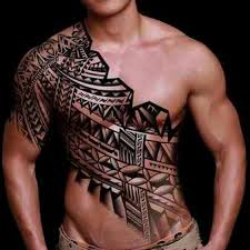 Stunning Samoan Tribal Tattoo On Front Body