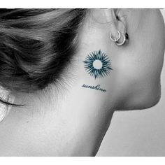 Sun Tattoo For Neck