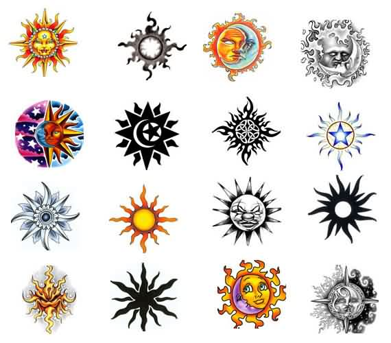 Sun Tattoos Collection