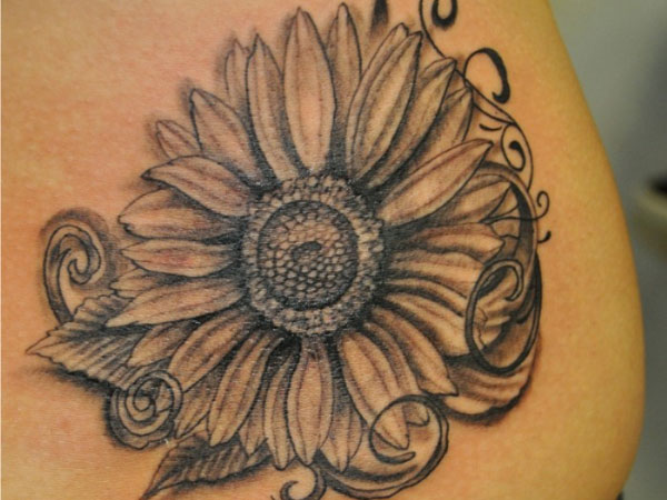 Sunflower Close Up Tattoo