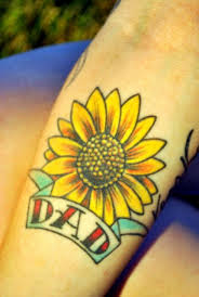 Sunflower Tattoo For Dad