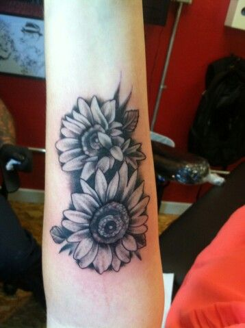 Sunflowers Tattoos On Forearm