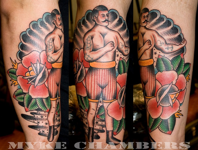 Terrific Traditional Boxer Sleeve Tattoos