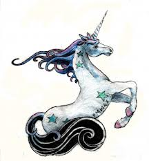 Tiny Stars And Unicorn Tattoo Designs