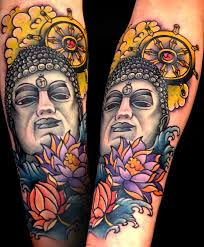 Traditional Buddha Sleeve Tattoos