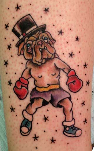 Traditional Bull Dog Boxer Traditional Tattoo