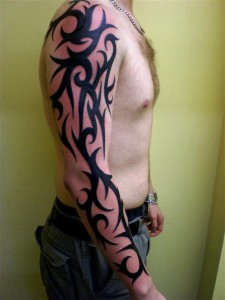 Traditional Custom Tribal Arm Tattoo