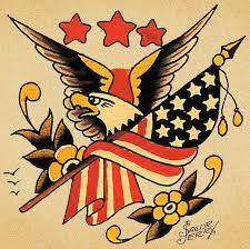 Traditional Eagle American Tattoo Designs