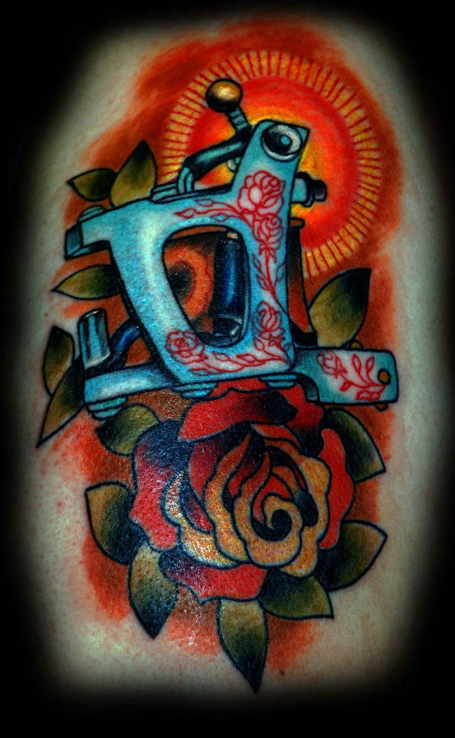Traditional Jh Machine Tattoo Image