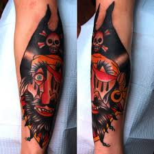 Traditional Pirate Skull Sleeve Tattoos