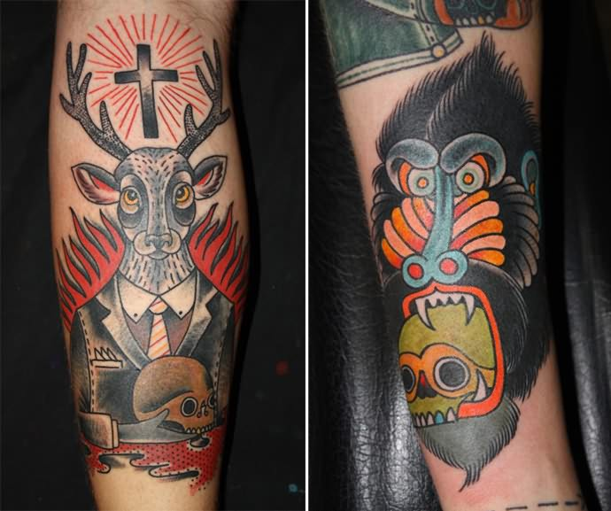 Traditional Tattoos On Arms