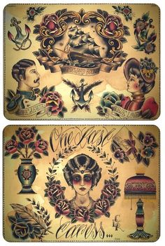 Traditional Tattoos Sheet