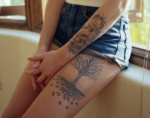 Tree Tattoo Fashion For Girls