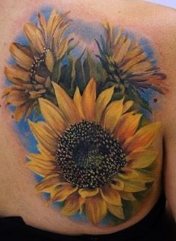 Tremendous Yellow Sunflower Tattoos