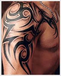 Trendy Tribal Tattoo On Shoulder