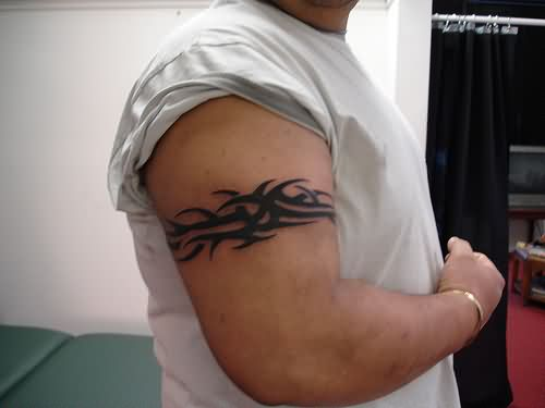 Tribal Armband Tattoo For Biceps