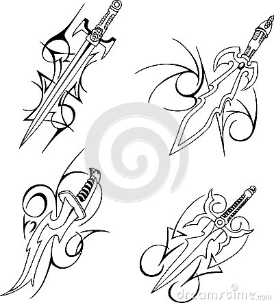 Tribal Blade Tattoo Designs