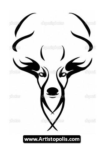 Waterproof Duck Hook And Antlers Decal additionally Hertje Hert Fawn Hinde Silhouettes 15799051 in addition Collectionddwn Deer Antler Drawing Tumblr further Antlers clipart furthermore Clip Art Deer. on deer head silhouette with antlers
