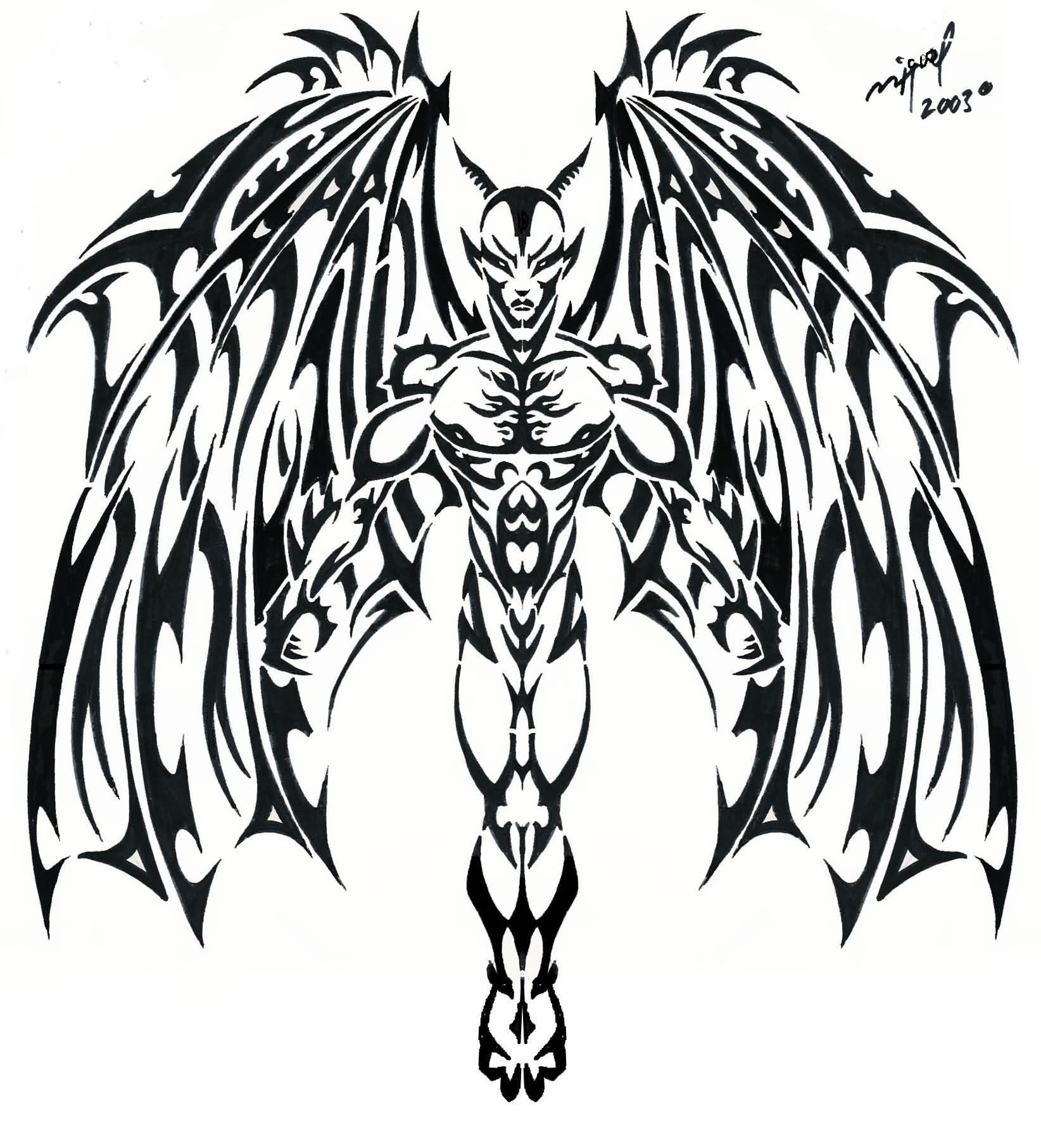 Tribal-Tattoos tribal-devil-tattoo-design-4